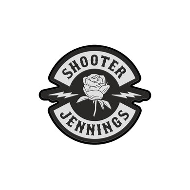 Shooter Jennings Black Rose Patch