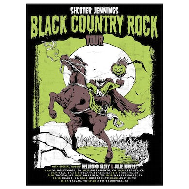 Shooter Jennings 2017 Black Country Rock Tour Poster