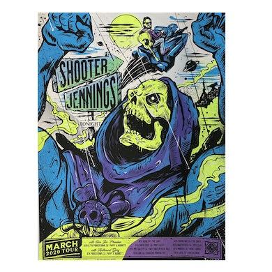 Shooter Jennings 2020 Skeletor Tour Poster