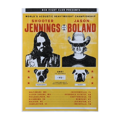 Shooter Jennings & Jason Boland - Acoustic Heavyweights Tour Poster