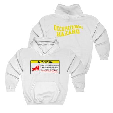 Warning - White Hoodie + Digital Download