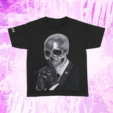 Busta Rhymes Silver Skull - Black T-Shirt