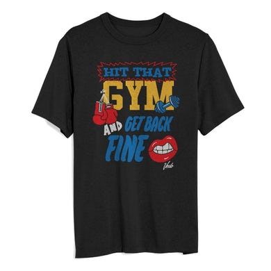 Hit The Gym Black T
