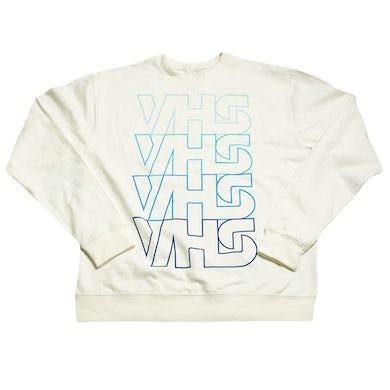 VHS Collection Stacked White Crewneck