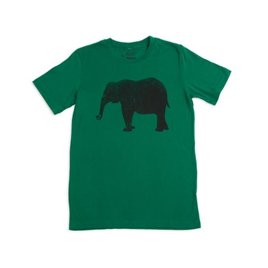 Jillette Johnson Unisex Elephant Tee - Green