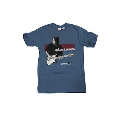 JACKSON BROWNE US Summer 2001 Teal Tour T-Shirt