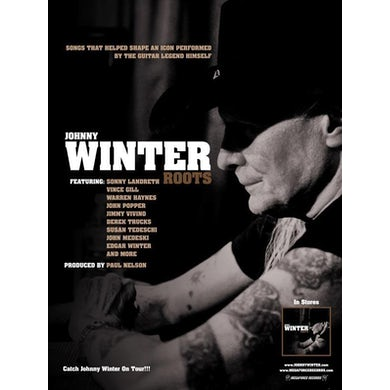 JOHNNY WINTER Roots Poster