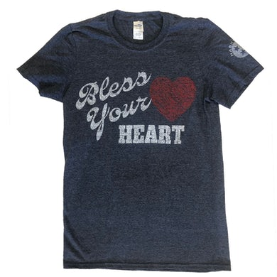 Richards And Southern Nashville Heather Navy Bless Your Heart Tee