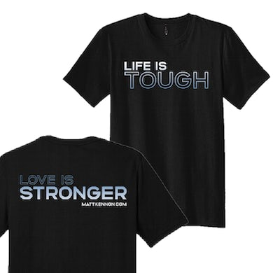Unisex Life Is Tough Black Tee