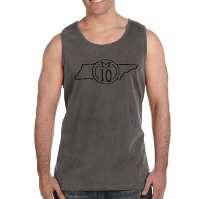 Mitchell Tenpenny Unisex Garment Washed Charcoal Tank