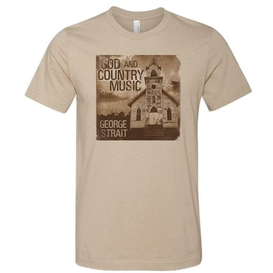 George Strait Heather Tan God and Country Music Tee