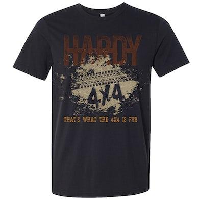 HARDY Black Heather 4x4 Tee