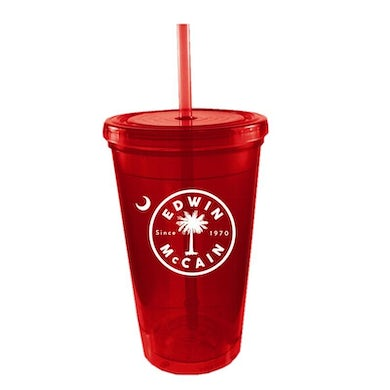 Red Plastic Cup w/ Straw