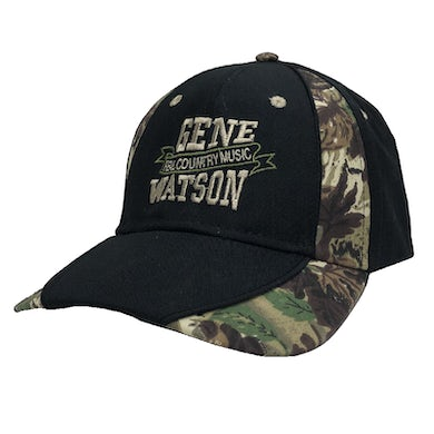 Gene Watson Real Country Music Camo and Black Ballcap