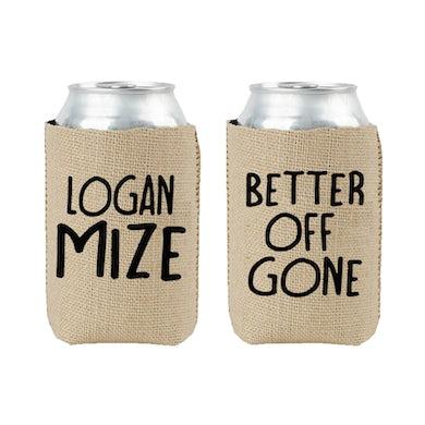 Logan Mize Burlap Koozie