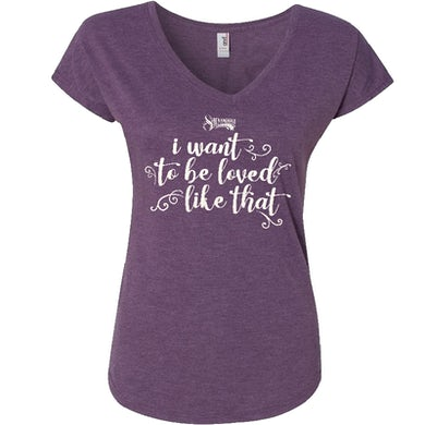 Shenandoah Ladies Purple V Neck Tee