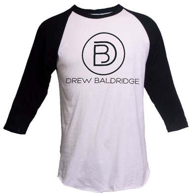 White and Black Raglan Tee