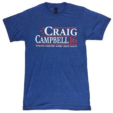 Craig Campbell Heather Royal Tee