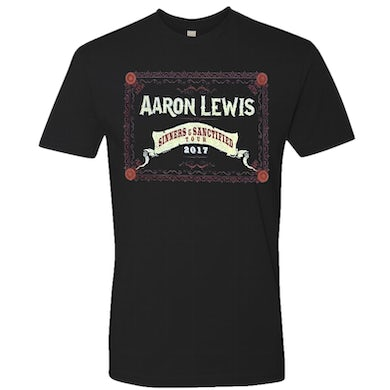 Aaron Lewis 2017 Black Sinner and Sanctified Tour Tee