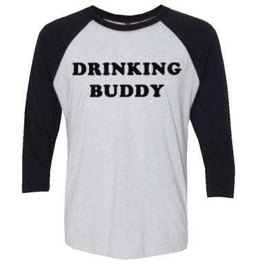 Logan Mize White and black Drinking Buddy Raglan