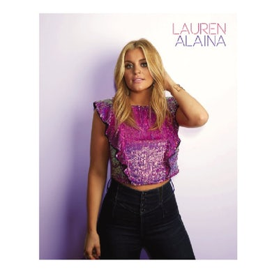 Lauren Alaina 8x10- Purple Shirt