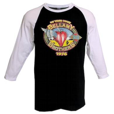 Bellamy Brothers Black and White Raglan 40 Year Tour Tee