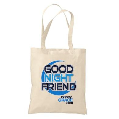 Crime Online Nancy Grace Canvas Tote Bag
