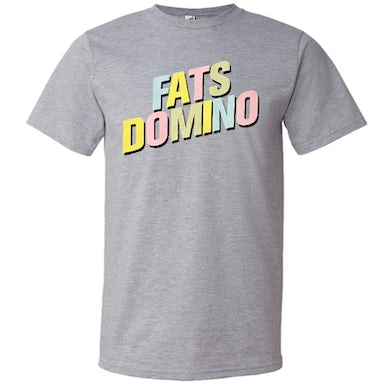 Fats Domino Heather Grey Logo Tee