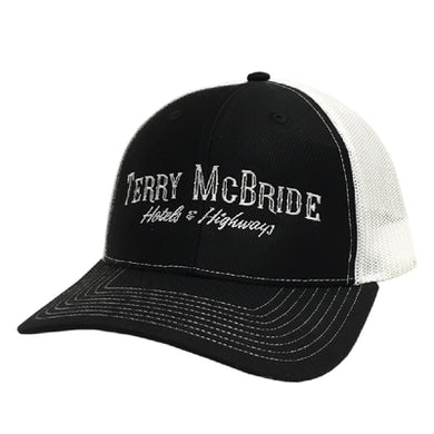Terry McBride Black and White Ballcap