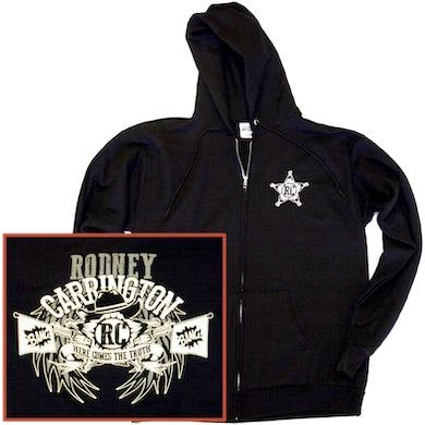 Rodney Carrington Jet Black Zip Up Hoodie