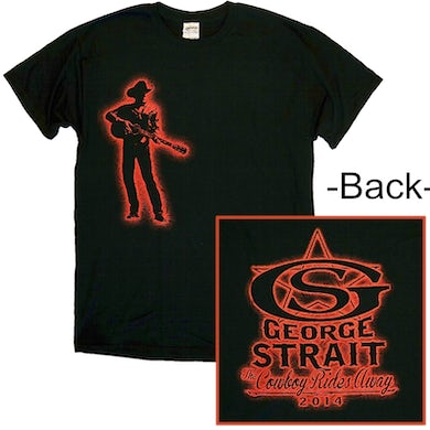 George Strait Black w/ Red Silhouette Tee