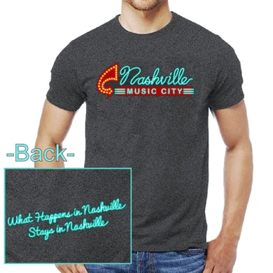 Richards And Southern Nashville Music City Dark Heather Tee- Neon Sign