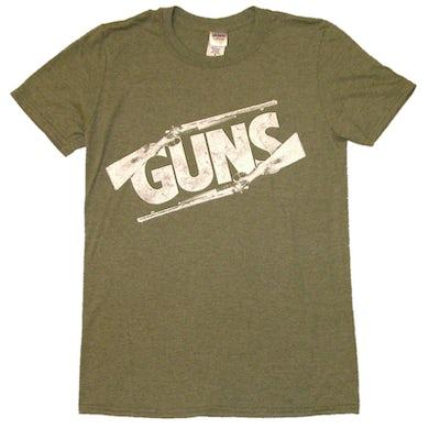 Justin Moore Heather Military Green Guns Tee