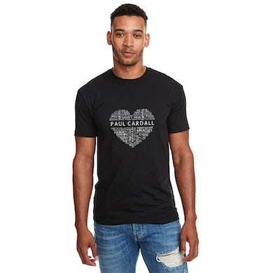 Unisex Black Word Heart Tee