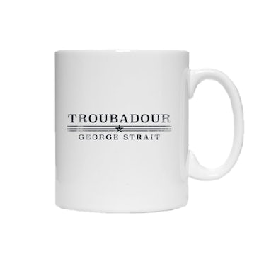 George Strait Troubadour Black Logo Coffee Mug