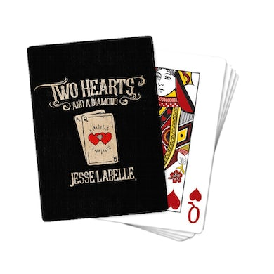 Two Hearts and a Diamond Playing Cards