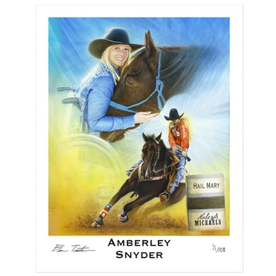 "Haley and Michaels Special Edition Amberley Snyder ""Hail Mary"" print"
