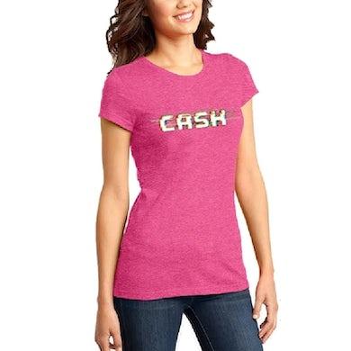 Cash Campbell Fucshia Frost Logo Tee