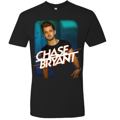Chase Bryant Black Photo Tee w/ Blue Background
