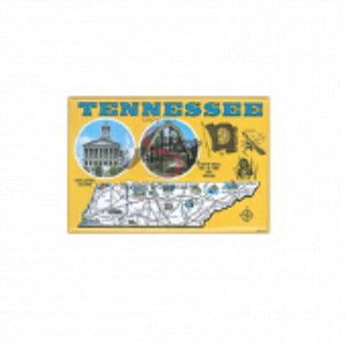 Richards And Southern Nashville Magnet- Yellow Map