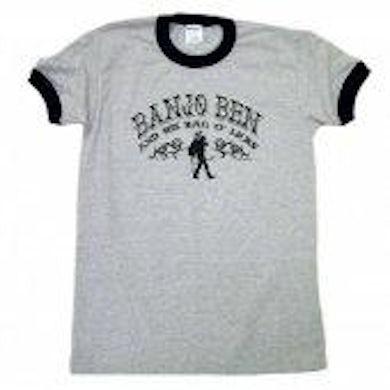 Banjo Ben Sport Grey and Black Ringer Tee