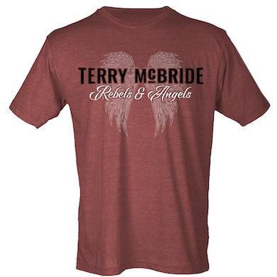 Terry McBride Heather Burgundy Rebels & Angels Tee