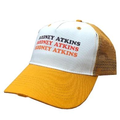 Rodney Atkins White and Mustard Trucker Hat
