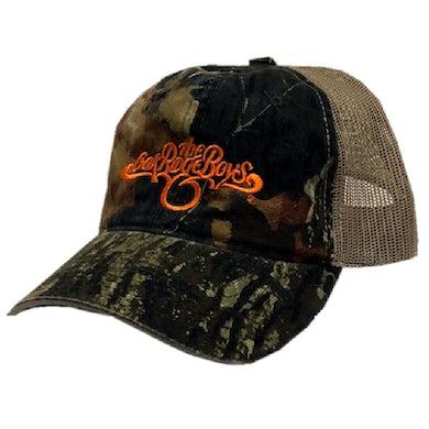 The Oak Ridge Boys Camo and Khaki Ballcap w Orange Logo