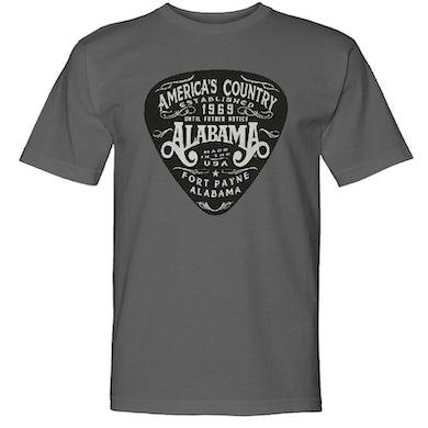 Alabama Charcoal America's Country Tee