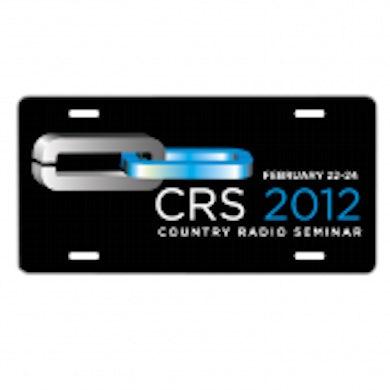 Country Radio Seminar Black License Plate