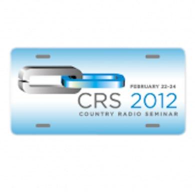 Country Radio Seminar White License Plate