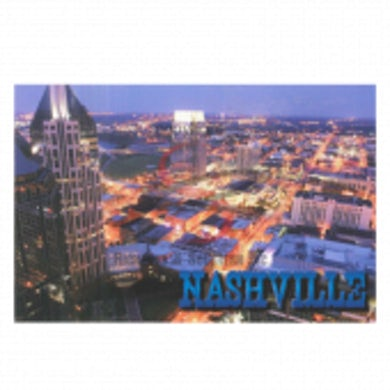 Richards And Southern Nashville Postcard Pack- Aerial Night