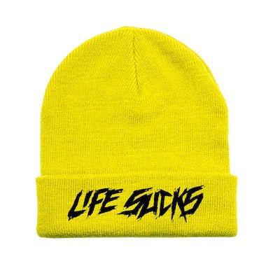 Lil Xan Life Sucks Beanie - Yellow