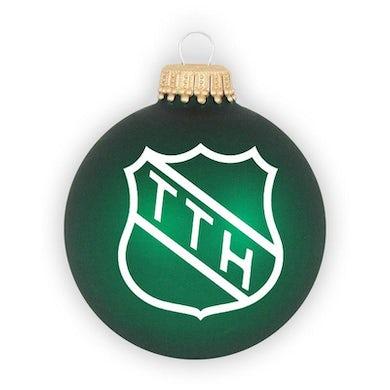 The Tragically Hip THE TRAGICALLY TTH Shield Logo Green Ornament